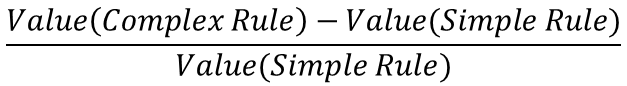 Marginal Value of Complexity